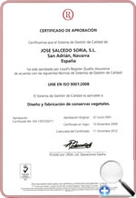 Certificado de Calidad